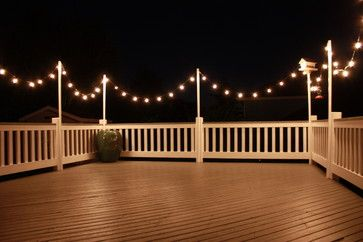 Eclectic Home Deck Design, Pictures, Remodel, Decor and Ideas - page 2 like the string lights