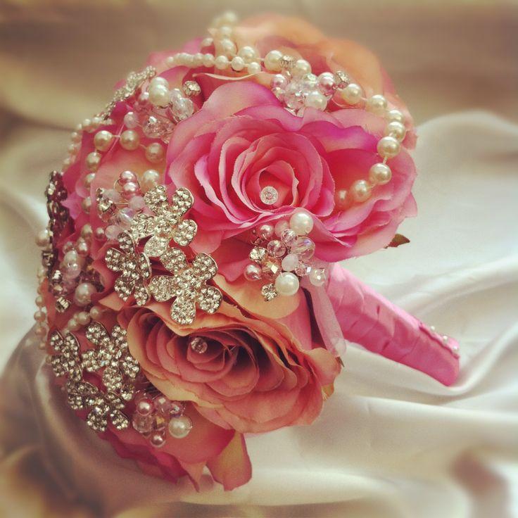 184 Best Wedding Bouquet Bling Images On Pinterest