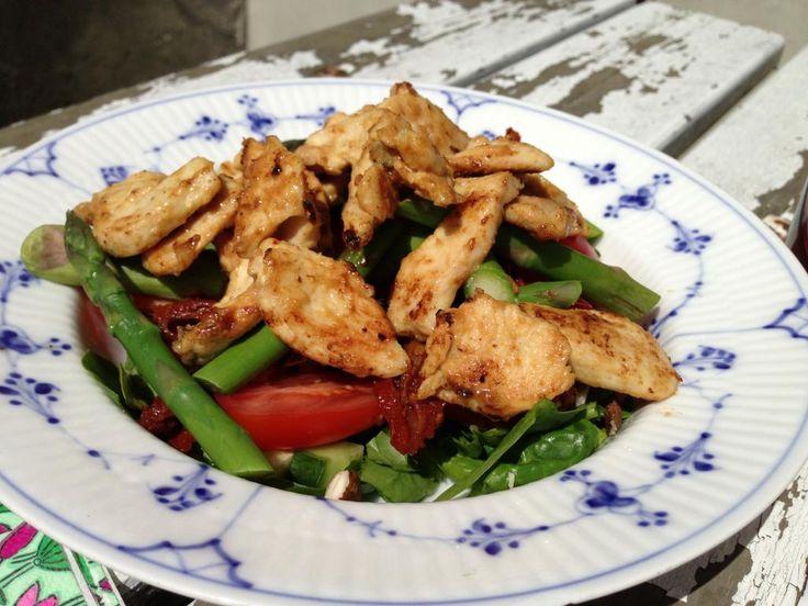 Salat m. dijon stegt kylling | Smagsløjer