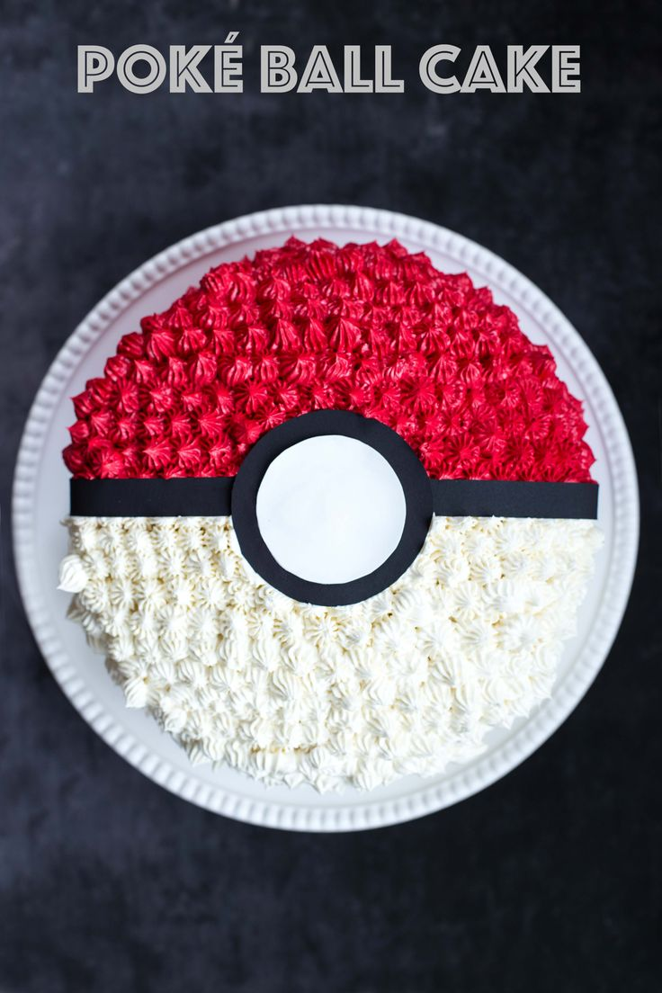 Poké Ball Cake | Deliciously Declassified
