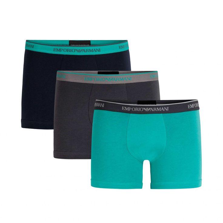 Emporio Armani 3pack boxer grijs marine groen