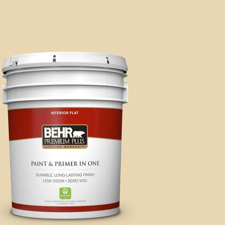 BEHR Premium Plus 5-gal. #ppf-13 Sunning Deck Zero VOC Flat Interior Paint, Ppf-13 Sunning Deck Flat