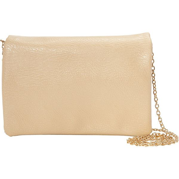 Nu G Mini Cross Body With Chain Strap (£21) ❤ liked on Polyvore featuring bags, handbags, shoulder bags, manmade handbags, tan, purse shoulder bag, beige shoulder bag, chain shoulder bag, mini cross body purse and handbags crossbody