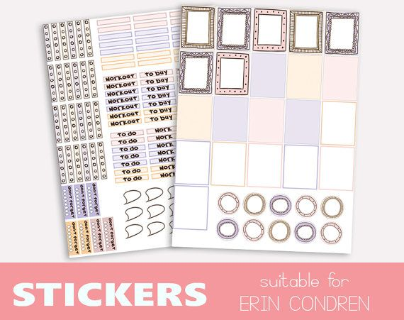 2 sheets of cute stickers for decorating di TheLittlePlannerShop
