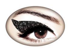 Violent Eyes - Jet Black Glitteratti. EYELINER TEMPORARY TATTOOS. I want to buy these.