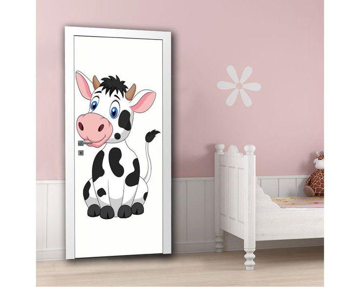 Cute cow, αυτοκόλλητο πόρτας  παιδικό , δείτε το!