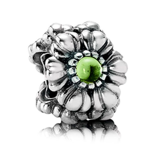 Pandora Birthday Bloom August with Peridot Charm