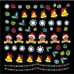 Festive Jingle Nail Stickers