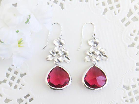 Gift for Mom Ruby Jewelry Set Mom Jewelry Wife Jewelry