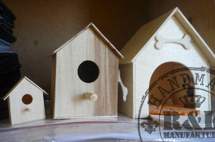 Изделия из дерева (скворечник и будка для собаки в миниатюре)