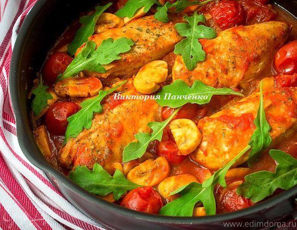Простой, но весьма яркий (как по цвету, так и по вкусу) вариант ужина для всей семьи...