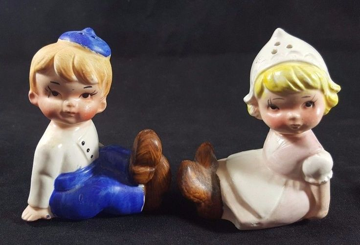 Vintage Salt And Pepper Shakers Dutch Boy And Girl Set Ceramic made in Japan | Collectibles, Decorative Collectibles, Salt & Pepper Shakers | eBay!