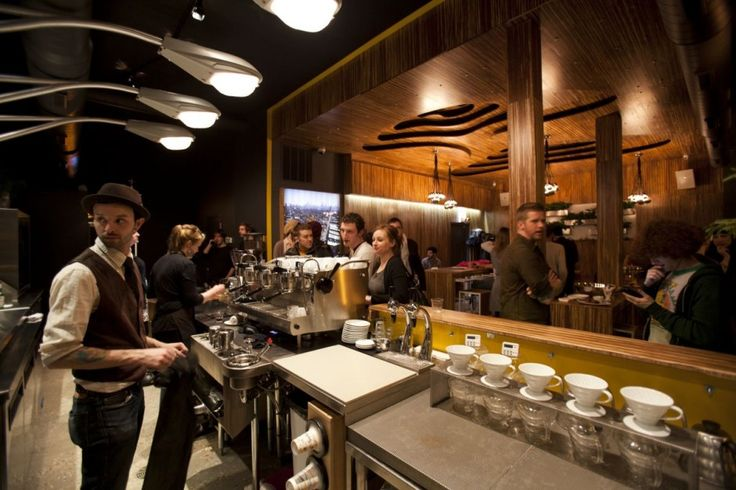Modern Coffee Shop Interior Design Ideas Widescreen Wallpaper