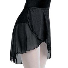 Tapered Crepe Wrap Ballet Skirt - Balera