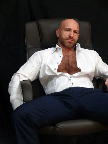Hairy chest of man photo