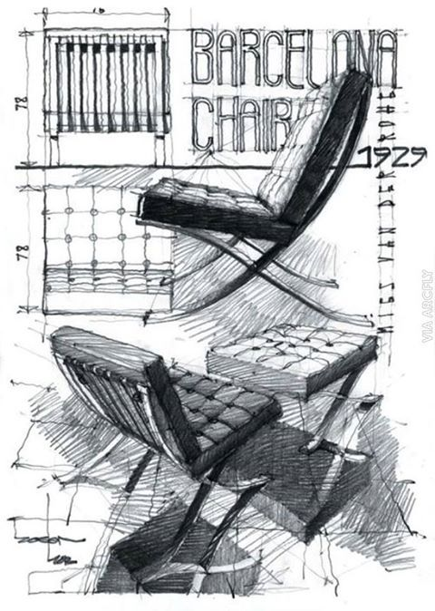 Barcellona #chair by Ludwig Mies van der Rohe