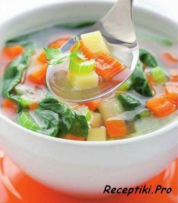 Овощной суп низкокалорийный