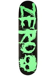 Black and green zero skateboard