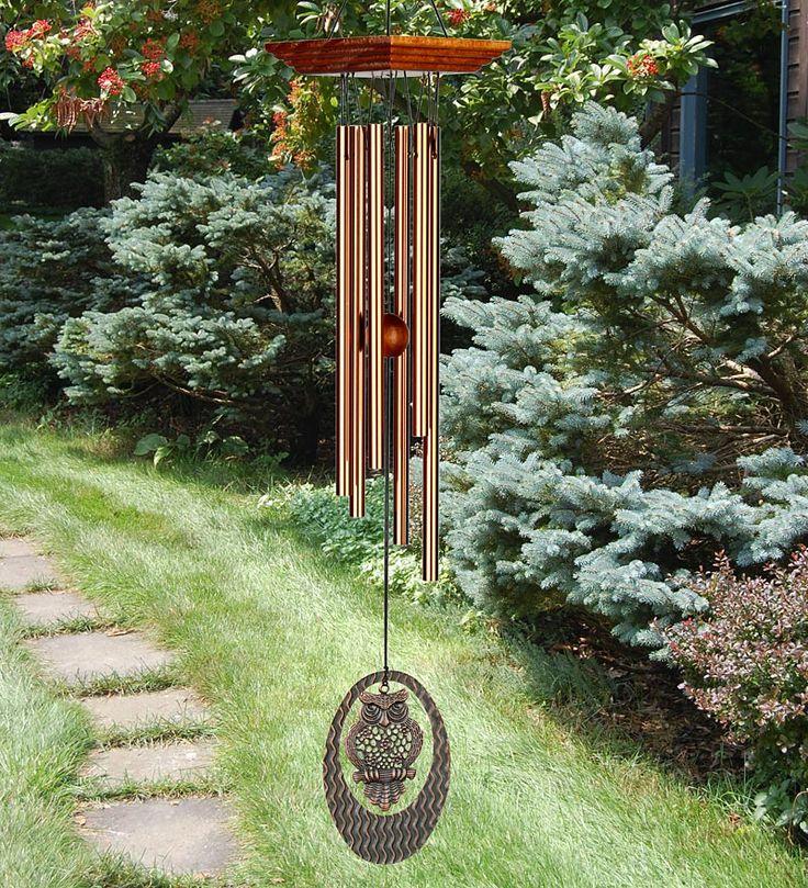 Woodstock Habitats Owl Portrait Wind Chime