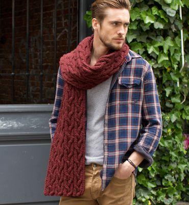 25 beste ideen over Kabel gebreide sjaals op Pinterest