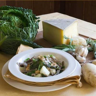 Pizzocheri della Valltelina is a classic, Northern Italian dish. Mangia bene. Vivi felice! Italian Harvest