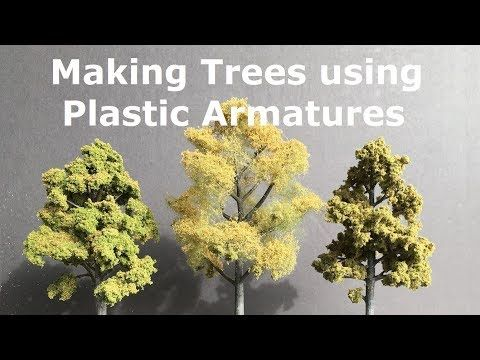 Making Trees using Plastic Armatures from Woodland Scenics