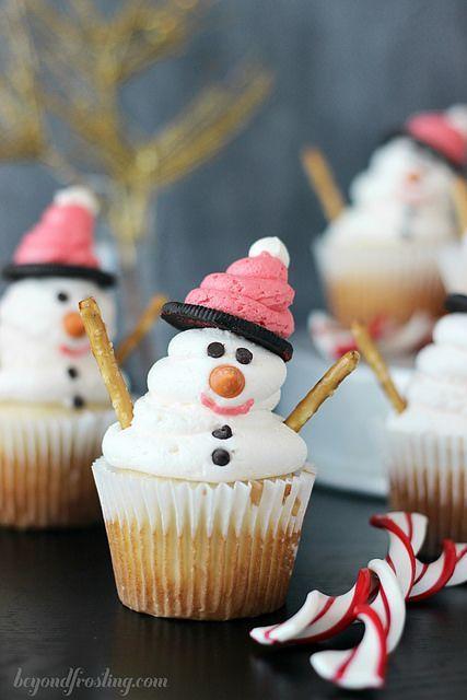 Makkelijke sneeuwpop Cupcakes recept