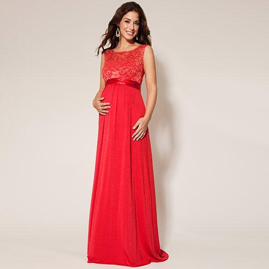 Valencia Kleid sunset red aus der Kategorie Festliche Umstandsmode von Mamarella - Details