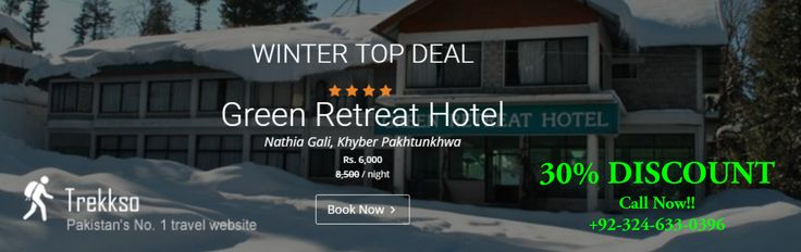 WINTER TOP DEAL 30% DISCOUNT On Hotel Booking BOOK NOW!!  http://trekkso.com/hotel-details.php?hotelid=Mzc%3D #WinterTravelDeals #TravelOffers #hotelbooking #hotelbookingpakistan