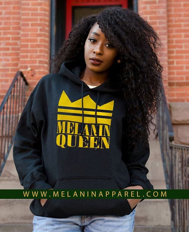 """Black Pride hoodie """"Melanin Queen"""" tank, and tank available now. Please visit www.melaninapparel.com home of black pride t-shirts and apparel."""