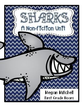 This a mini unit all about sharks! Word work, word wall, poster headers, 2 crafts, informative text with CCSS text features worksheets, graphing activities, shark report activities, writing, and literature connections.