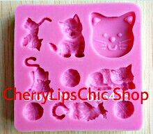 Stampi in silicone gatto/ Silicone cats molds