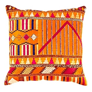 phulkari pillow from Serena and Lilly