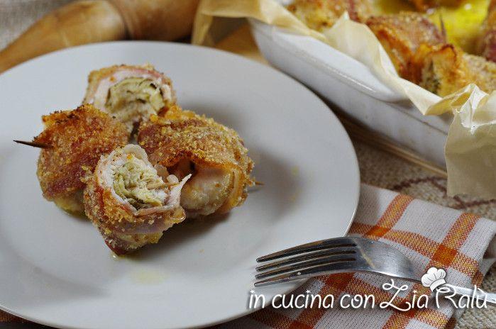 Involtini di pollo carciofini e pancetta - In cucina con Zia Ralù