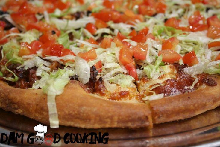 BLT Pizza  #BLT #Pizza #Baking #food