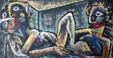 """Saatchi Art Artist Laurent Proneur LONEROC; Painting, """"Menage a trois"""" #art"""