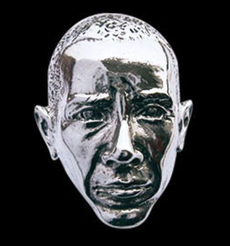 Stainless Steel President Obama Ring from Jax Biker Jewellery by DaWanda.com