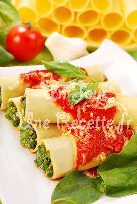 Photo de la recette Cannelloni épinards ricotta
