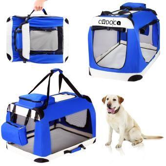 Boite cage transport chien CADOCA pliable - Taille XL