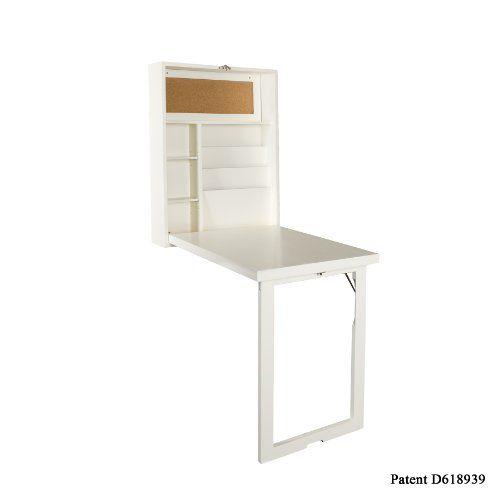 Southern Enterprises Fold-out Convertible Desk, Winter White