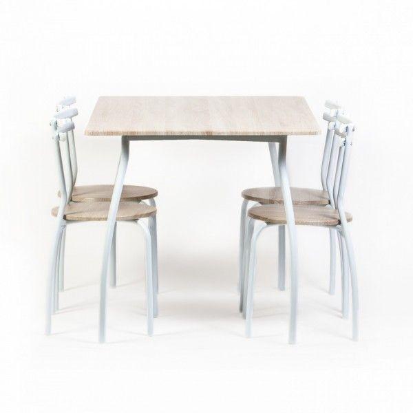 Set bucatarie-masa 4VN cu 4 scaune