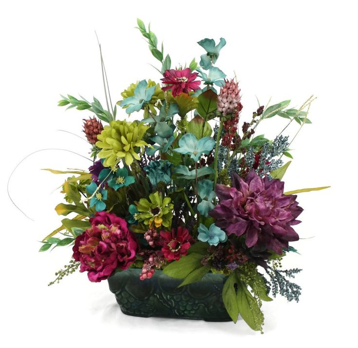 Silk Flower Table Centerpiece Arrangement, Home Décor, Faux Silk Flowers,  Artificial Silk Floral