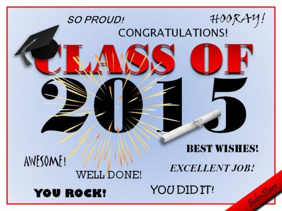 A #congratulations ecard for #class of #2015. See all my # ...