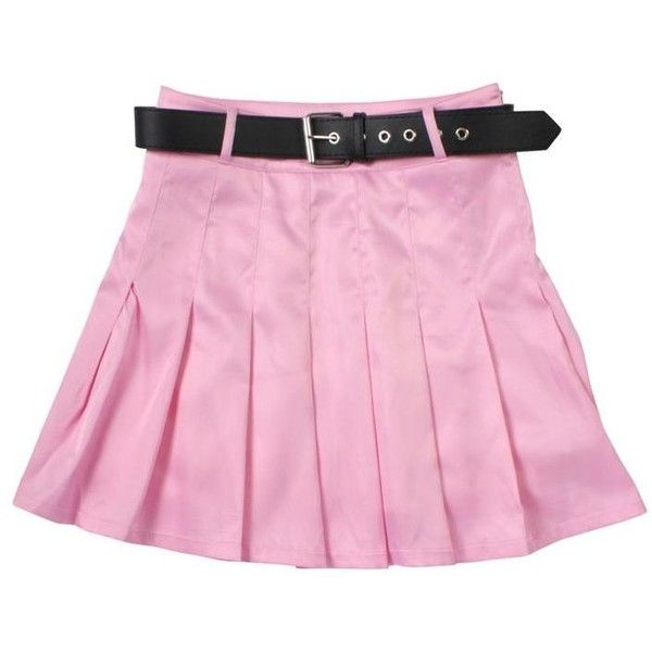 SARA Flapper'sClub ベルト付きプリーツスカート (1.045.440 VND) ❤ liked on Polyvore featuring skirts