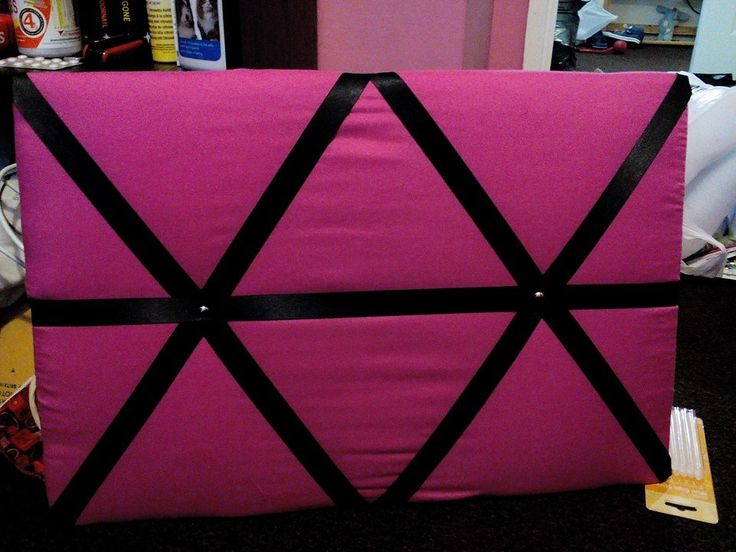 Black and pink notice board