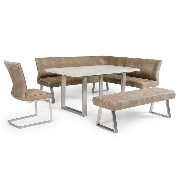 Calles Upholstered Bench Fabric Dining Chairs Contemporary Dining Furniture Upholstered Dining Bench
