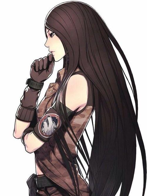 Anime Warrior Girl Draw Hair Drawing
