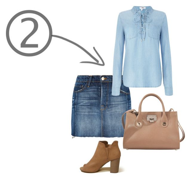"""""""Denim on Denim 2"""" by maimmelbourne on Polyvore featuring Frame, Paige Denim, Hollister Co. and Jimmy Choo"""