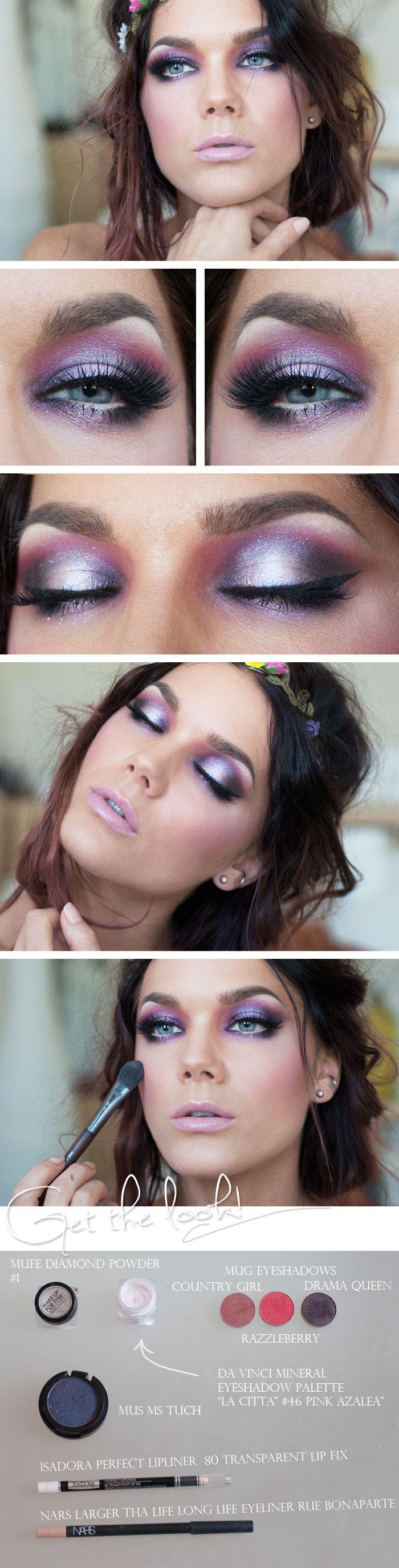 Ethereal purple eye makeup