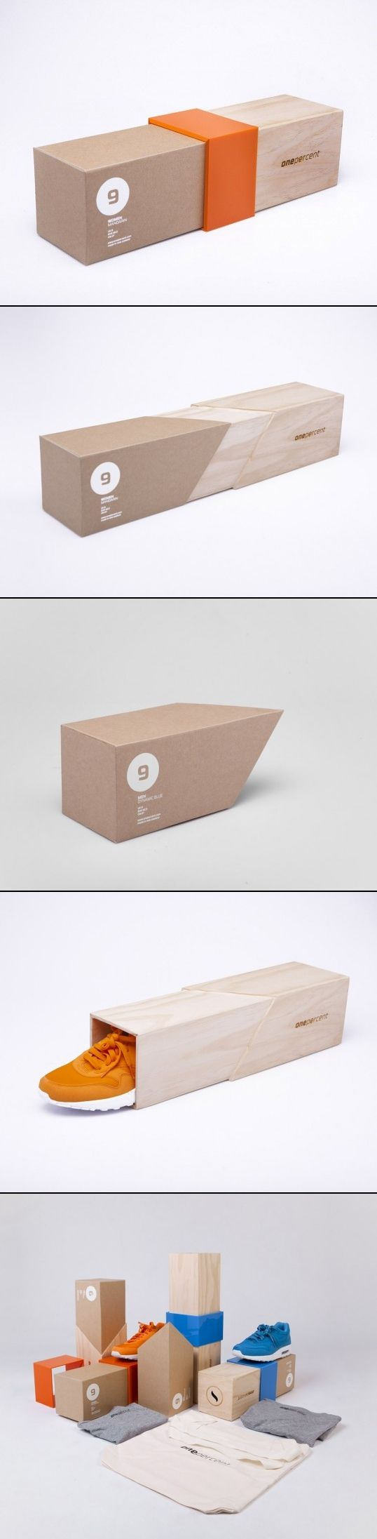 One Percent creative packaging by Ryan Romanes designer. PD